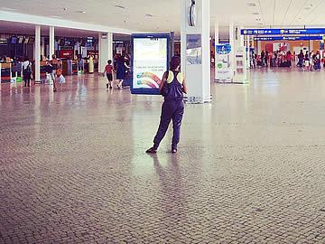 Terminal - balcões de check-in