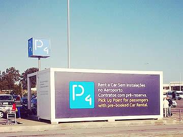 Balcão rent-a-car partilhado no parque P4