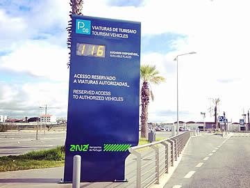 Aeroporto de Faro - entrada para o parque P6 - transfers e taxis privados