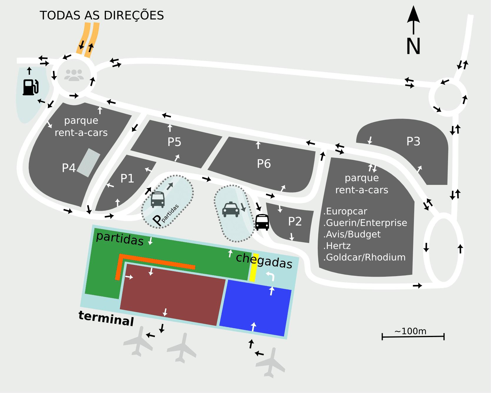 Estacionamento no Aeroporto de Faro