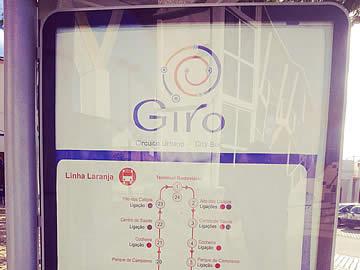 Mapa do circuito Giro em Albufeira